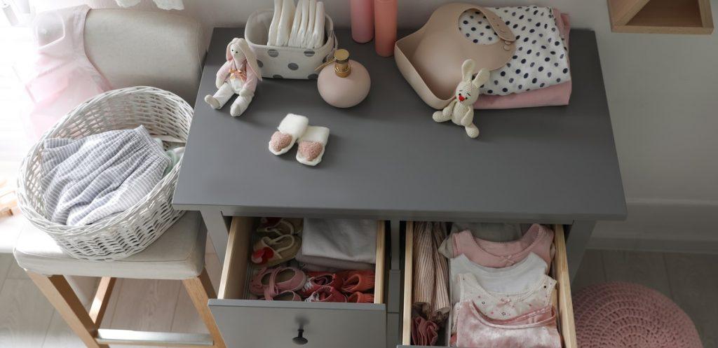 أفكار عملية لترتيب مستلزمات الاطفال الرضع