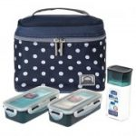 LOCK&LOCK - Lunch Box Dotted Bag 3pc-Set - Blue
