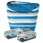 LOCK&LOCK - Lunch Box Stripe Bag 2pc-Set - Blue