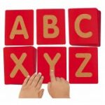 Lakeshore - Uppercase Tactile Letters - Red