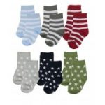 Luvable Friends - Crew Sock 6 Pair - Stars & Stripes