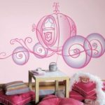 RoomMates Disney Princess Carriage Giant Wall Decal with Glitter