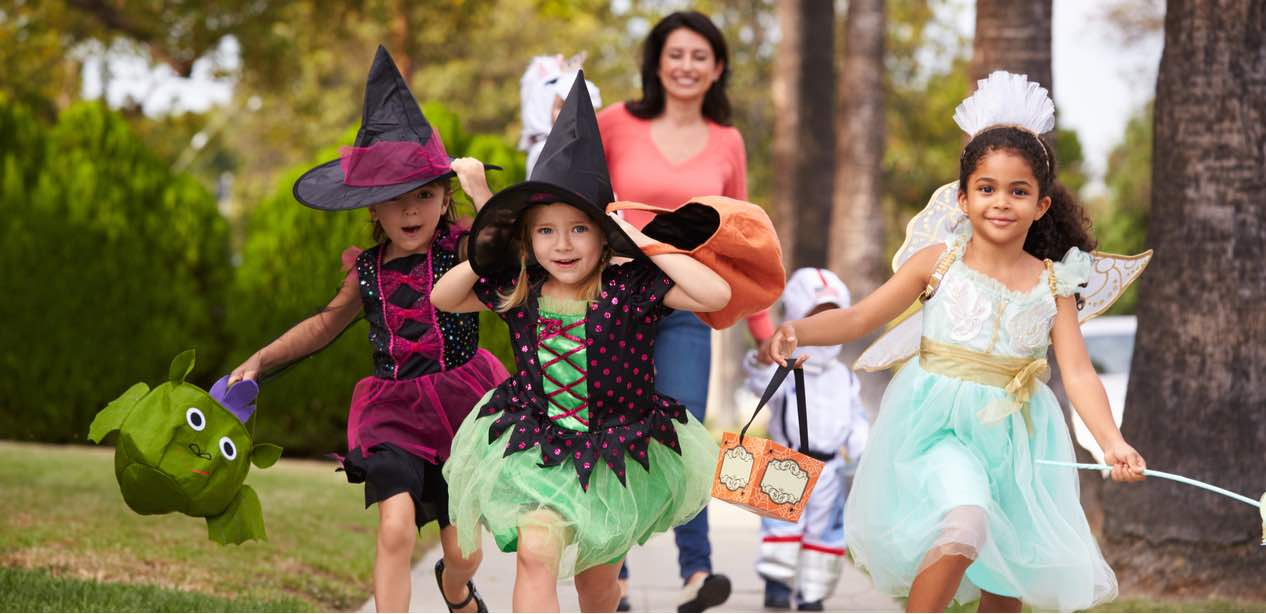 More cute, less spook! Costumes for the little ladies